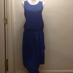 Banana Republic Blue Silk Drop Waist Dress